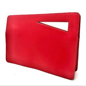 Vintage Contemporary Primary Red Clutch Bag